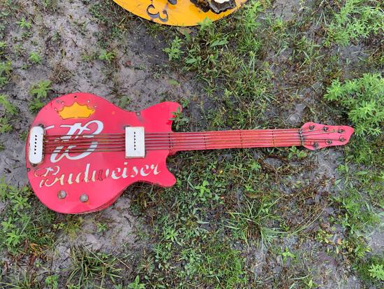Budweiser Guitar Sign