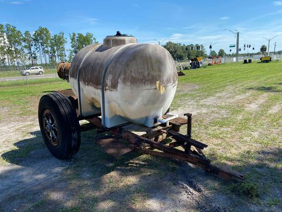 Plumbed Tank on Ag Off Road Trailer