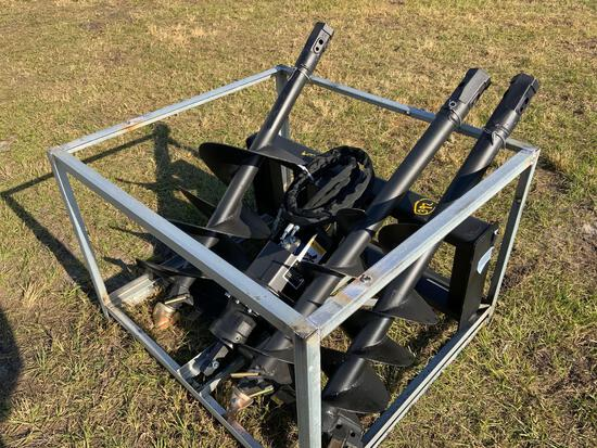 Unused Skid Steer Auger with 3 bits