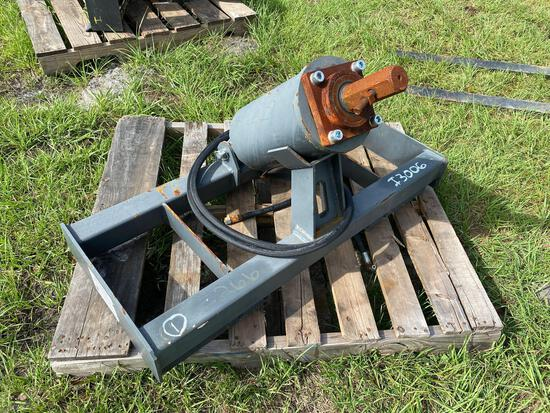 Unused Skid Steer Hydraulic Auger Attachment