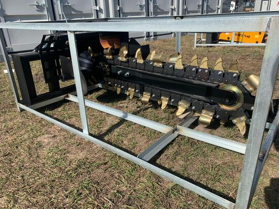 Unused Skid Steer Hydraulic Trencher