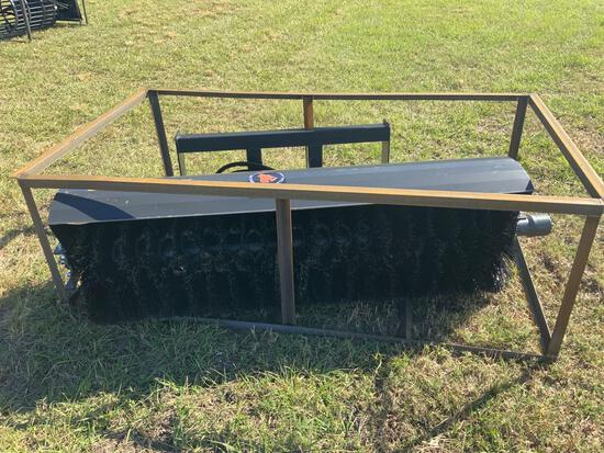 Unused 72in Skid Steer Angle Broom