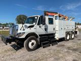 2009 International 7400 Palfinger PK12000 Knuckleboom Crane Service Truck