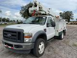 2008 Ford F-550 4x4 Over Center Insulated 43FT Bucket Truck