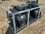 Unused Skid Steer 2 Cylinder Rock Grapple