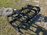 Unused 72in Skid Steer 2 Cylinder Root Grapple