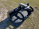 Unused Skid Steer Grapple Bucket Attachment
