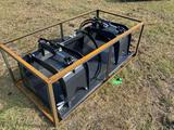 Unused 72in Skid Steer 2 Cylinder Grapple Bucket