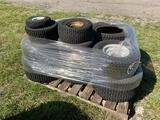 Stack of Tires for Turf Equipment and Utility Carts