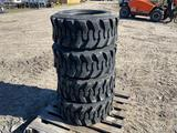 4 Unused 12/16.5 Skid Steer Tires