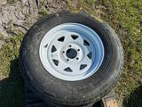 4 Unused 15in 5 Lug Trailer Tires With Wheels