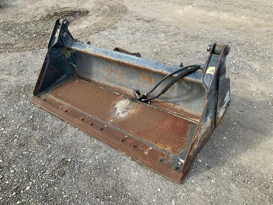72in Hydraulic Skid Steer Clam Shell Bucket