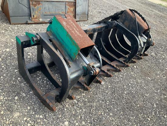 84in Skid Steer Hydraulic Root Grapple