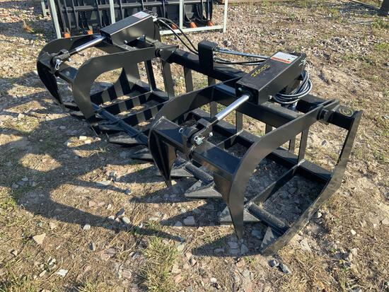 Unused 72in Dual Cylinder Root Grapple