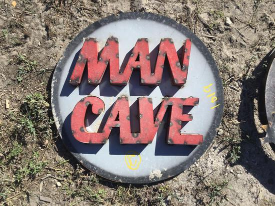 Man Cave Metal Sign Decor