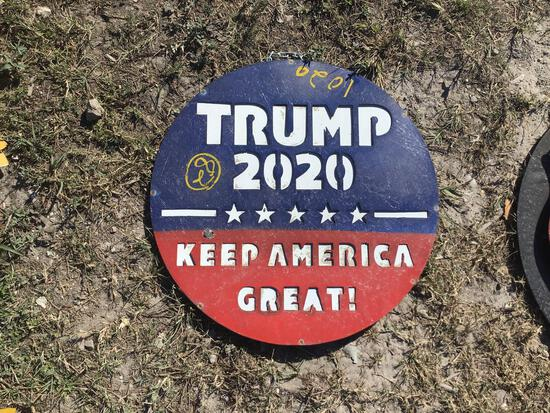 Trump 2020 Metal Sign Decor
