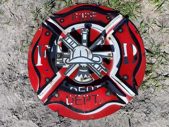 Fire Department Metal Sign