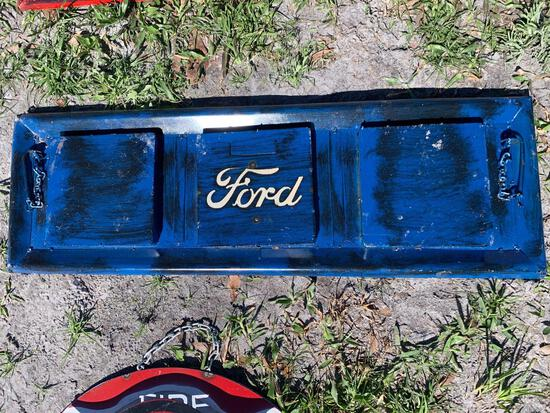 Ford Tailgate Metal Sign