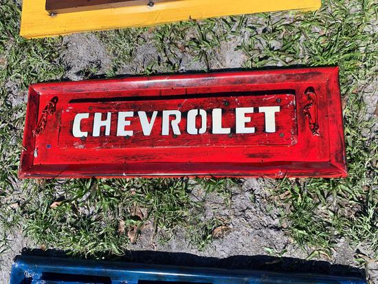 Chevrolet Tailgate Metal Sign