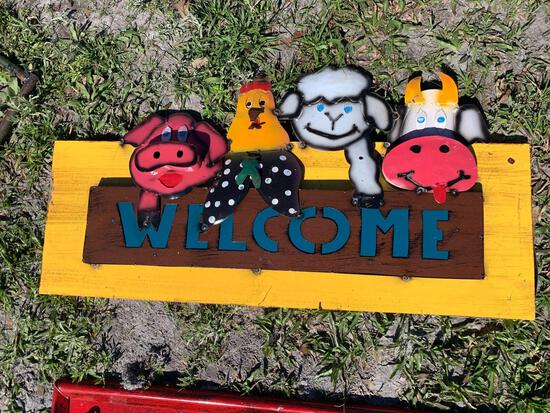 Welcome Farm Metal Sign