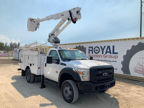 2012 Ford F-550 4x4 43FT Insulated Bucket Truck