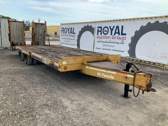 1996 Eager Beaver 25x8.5FT Hydraulic Ramps Equipment Trailer