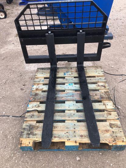 Unused JBX 4000 48in Skid Steer Forks