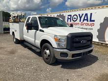 2014 Ford F-350 Extended Cab Service Crane Truck
