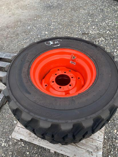 2 12-16.5 NHS Tractor Tires with Wheels