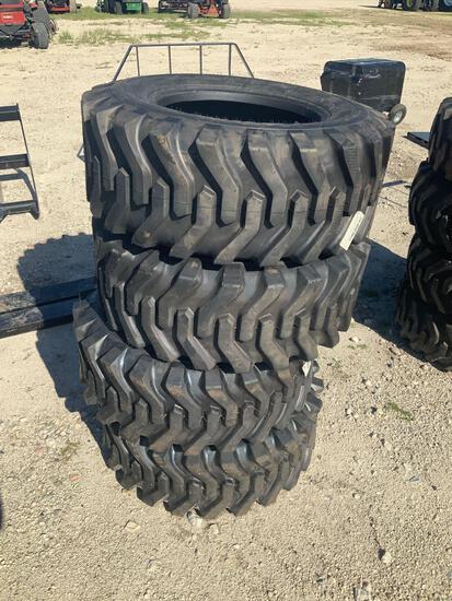 Set of 4 Unused 12-16.5 Skid Steer Tires