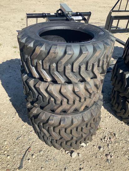 Set of 4 Unused 10-16.5 Skid Steer Tires