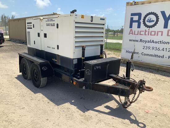 2005 Atlas Copco QAS 58 JDS-T2 52KW Towable Generator