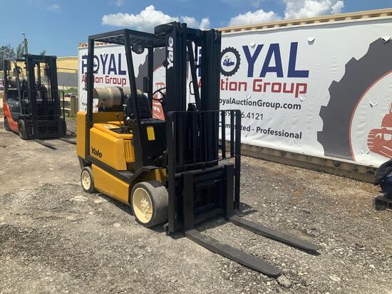 Yale GLC065T 6,500lb LP Cushion Tire Forklift