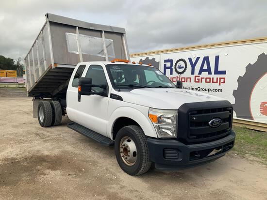 2012 Ford F-350 Extended Cab Landscape Dump Truck