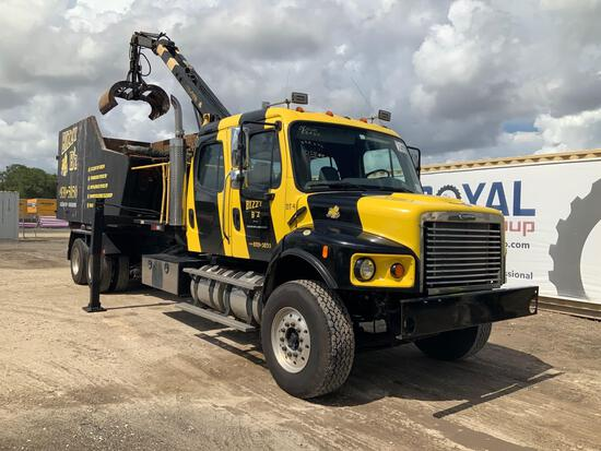 2007 Freightliner M2 106 Crew Cab Roll Off Grapple Truck