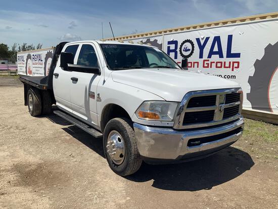2012 Ram 3500 Crew Cab Dually Flatbed Truck