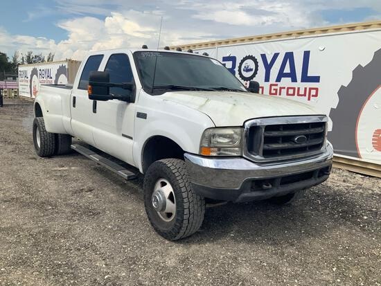 1999 Ford F-350 4x4 Crew Cab Dually Pickup Truck