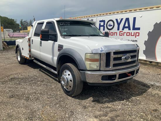 2008 Ford F-550 Crew Cab Dually Hauling Truck