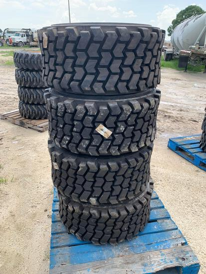 Four Unused 33 x 15.5-16.5 Wide Wall High Flotation Tires