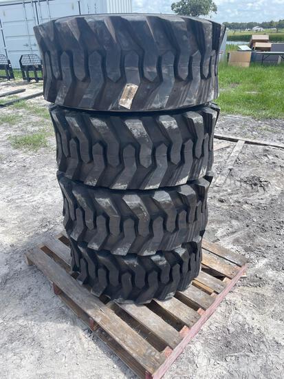 Four Unused 14-17.5 Skid Steer Tires