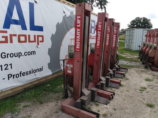 4 Rotary HP415-100 3-Phase 60,000lb Capacity Portable Truck Lift Posts