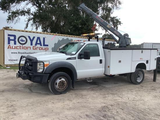 2014 Ford F-550 4x4 6,000lb Service Crane Truck