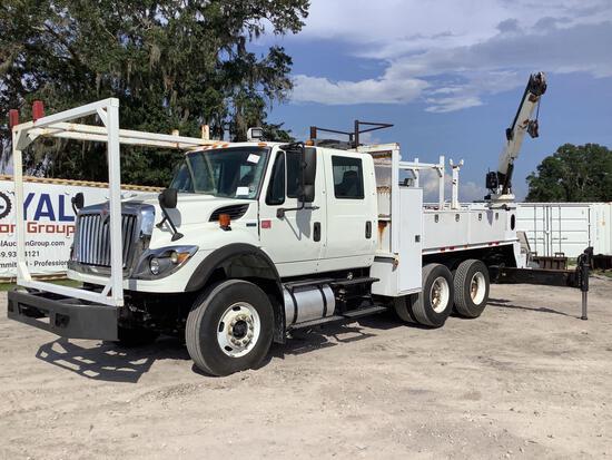 2013 International WorkStar 7400 Crew Cab T/A Crane Truck