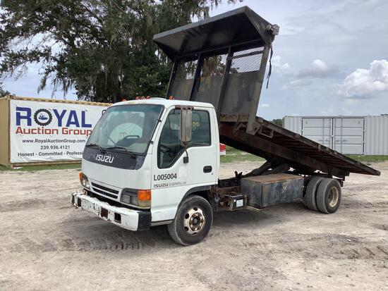 2001 Isuzu Cabover Flatbed Dump Truck