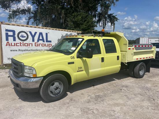 2004 Ford F-350 Crew Cab Dump Truck