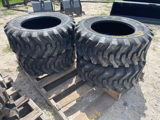 Four Unused Camso 10-16.5 Skid Steer Tires