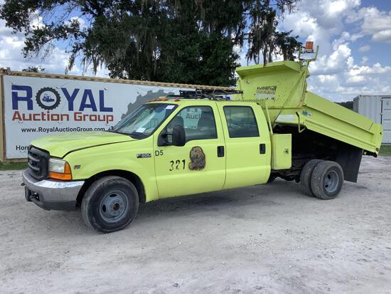 2000 Ford F-350 Crew Cab Dump Truck