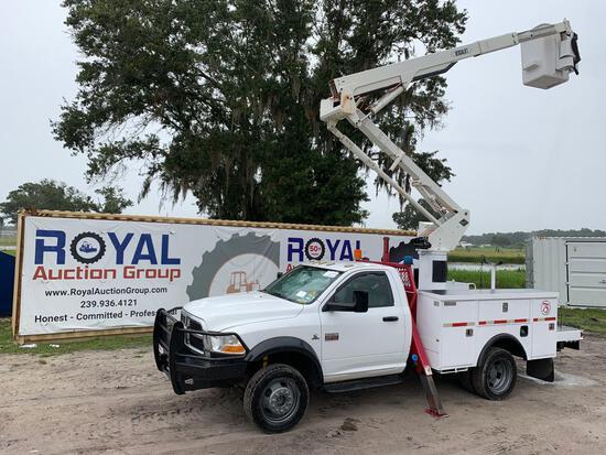 2012 Ram 5500 4x4 Over Center Bucket Truck
