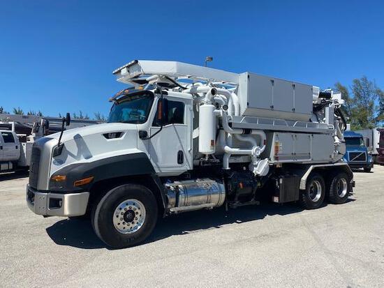 2016 Caterpillar CT660 Bucher Recycler 315 Combo Vacuum Jetter Recycling Truck