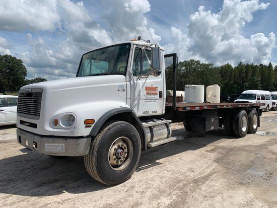 2002 Freightliner FL112 T/A Flatbed Truck
